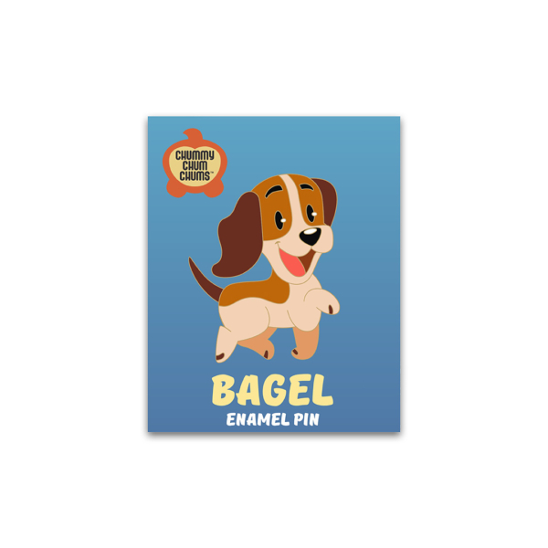 Bagel Enamel Pin