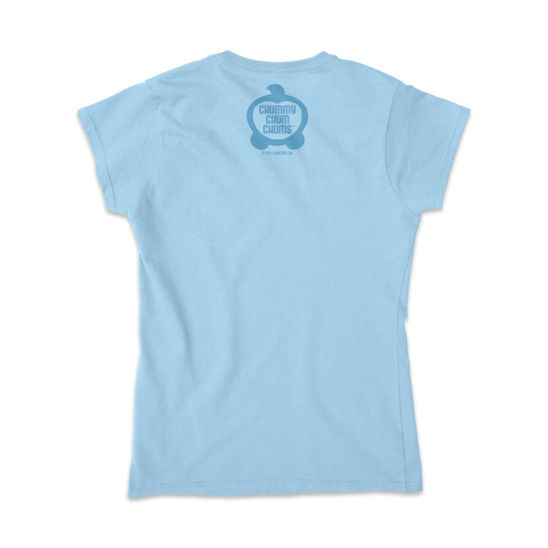 Bagel Hug Bubba Light Blue Ladies Shirt Back
