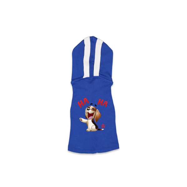 Bagel Laugh Royal Blue Dog Hoodie