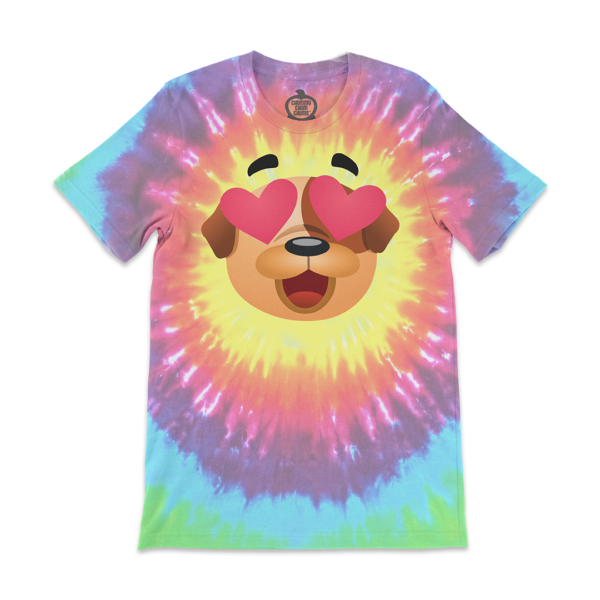 Bubba Heart Eyes Rainbow Circle Tie Dye Unisex Shirt