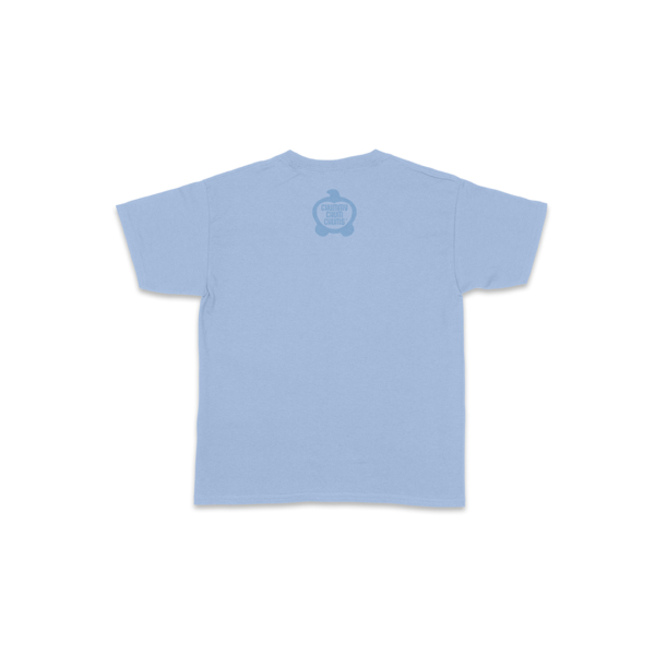 Bubba Laugh Light Blue Toddler Shirt Back