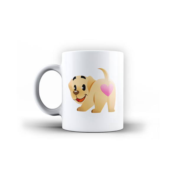 Butters Heart Butt White Ceramic Mug Front